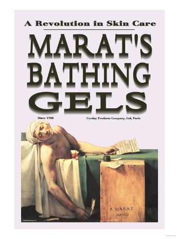 Marat's Bathing Gels: A Revolution in Skin Care Art Print