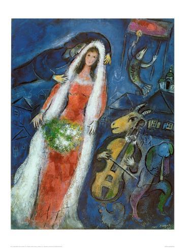 La Mariee Print by Marc Chagall - AllPosters.co.uk