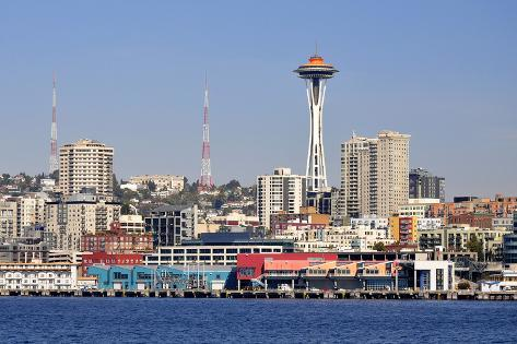 Seattle Skyline with the Space Needle Photographic Print