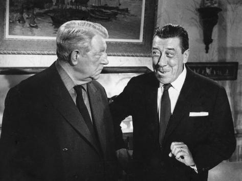 Franck Fernandel and Jean Gabin: L'Âge Ingrat, 1964 Photographic Print