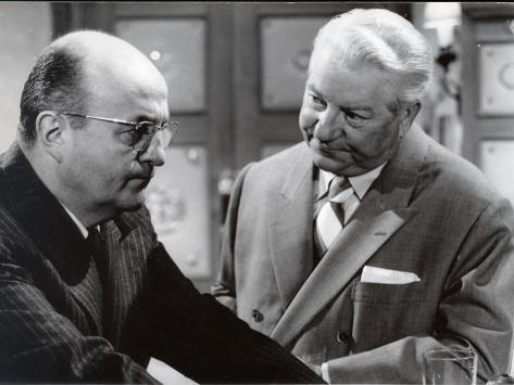 Jean Gabin and Bernard Blier: Le Cave Se Rebiffe, 1961 写真プリント