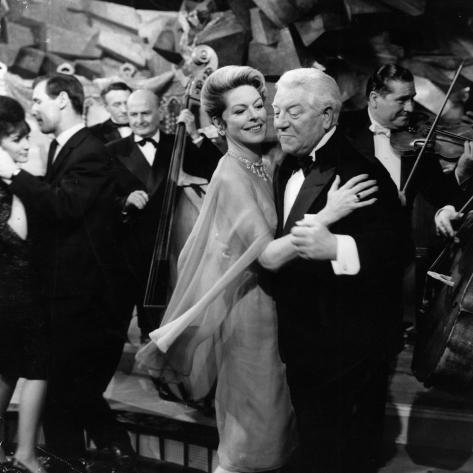 Jean Gabin and Madeleine Robinson: Le Gentleman D'Epsom, 1962 Photographic Print