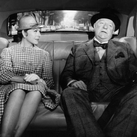 Jean Gabin and Madeleine Robinson: Le Gentleman D'Epsom, 1962 写真プリント
