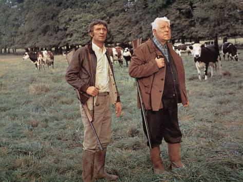 Jean Gabin and Michel Barbey: La Horse, 1970 Photographic Print