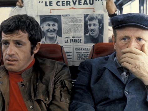 Jean-Paul Belmondo and Bourvil: Le Cerveau, 1969 Stampa fotografica