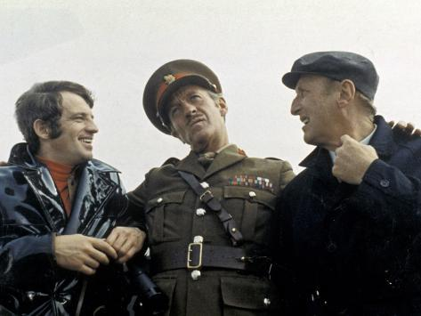 Jean-Paul Belmondo, Bourvil and David Niven: Le Cerveau, 1969 Stampa fotografica