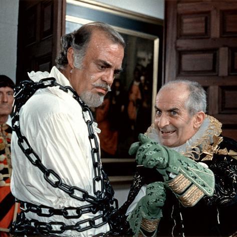 Louis de Funès and Don Jaime de Mora Y Aragon: La Folie Des Grandeurs, 1971 Photographic Print