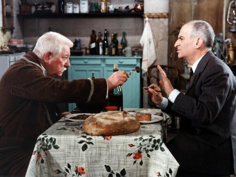 Louis de Funès and Jean Gabin: Le Tatoué, 1968 Photographic Print