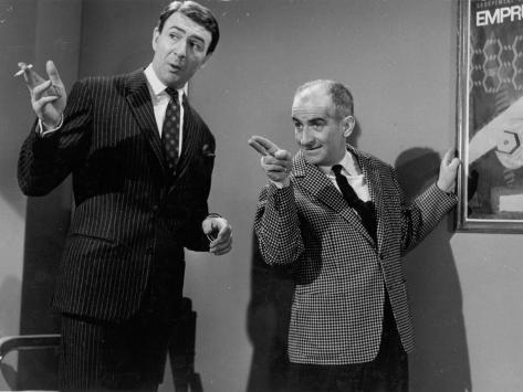 Louis de Funès and Jean-Pierre Marielle: Faites Sauter La Banque !, 1963 Stampa fotografica