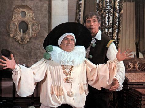 Louis de Funès and Yves Montand: La Folie Des Grandeurs, 1971 Stampa fotografica
