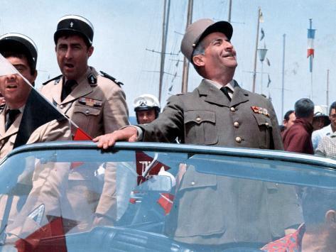 Louis de Funès, Guy Grosso and Michel Modo: Le Gendarme de Saint-Tropez, 1964 Photographic Print