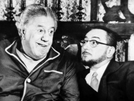 Michel Simon and Pierre Brasseur: Le Bateau D'Emile, 1962 Stampa fotografica