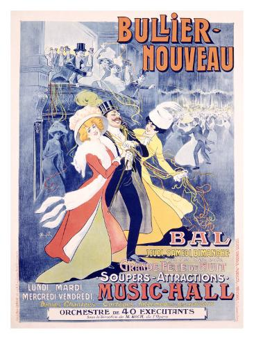 Bullier, Nouveau Bal Giclee Print