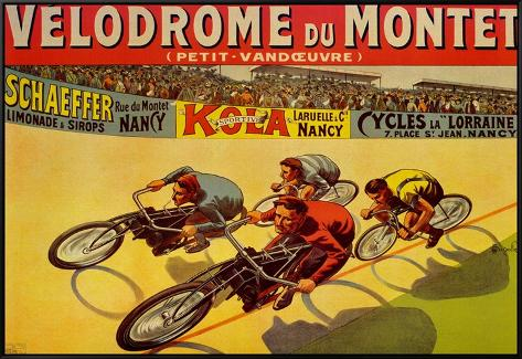 Velodrome du Mont Framed Canvas Print