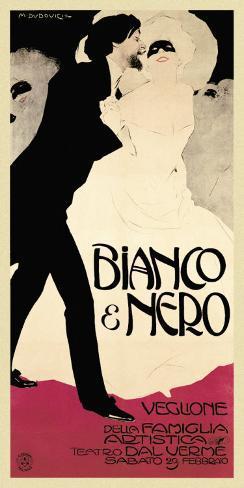 Bianco and Nero Art Print