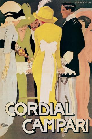 Cordial Campari Stretched Canvas Print