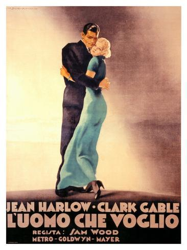 Hold Your Man, Clark Gable and Jean Harlow Giclee Print