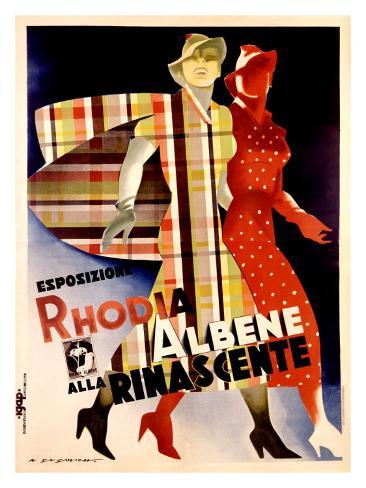 La Rinascente, Esposizione Rhodia Albene Giclee Print