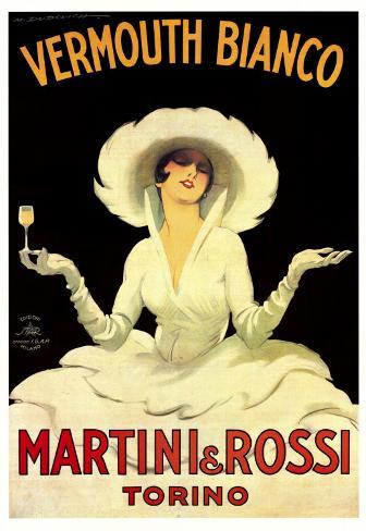 Martini and Rossi, Vermouth Bianco Art Print