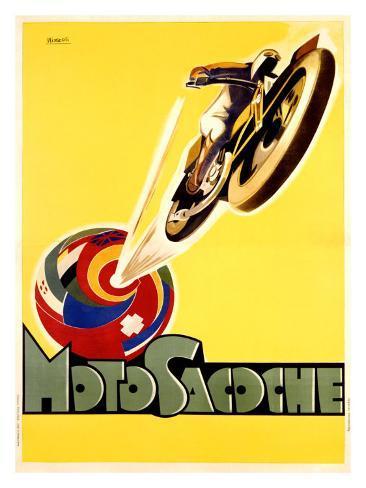 Moto Sacoche Giclee Print