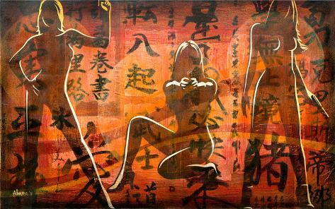 Bond Girls Stretched Canvas Print