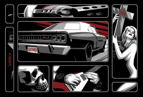 Death Ride 68 Impressão em tela esticada