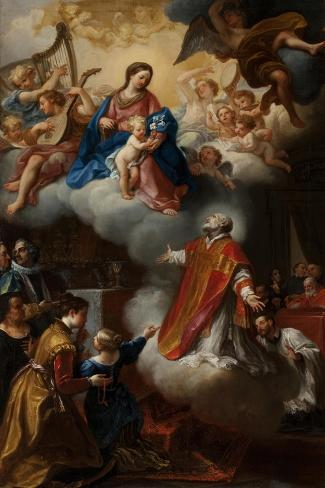The Vision of St. Philip Neri, 1721 Giclee Print