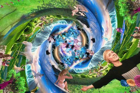 Creation (Megaplex), Garden of Eden Stretched Canvas Print