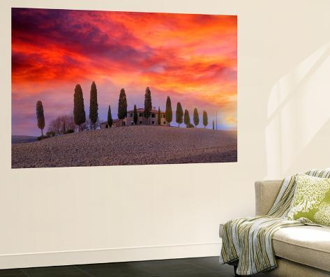 Winter Sunset at Dreamland Wall Mural