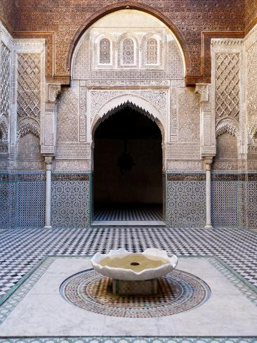 Attarine Madrasah, Fez, UNESCO World Heritage Site, Morocco, North Africa, Africa Photographic Print