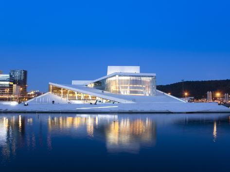 Oslo Opera House, Snohetta Architect, Oslo, Norway, Scandinavia, Europe Photographic Print