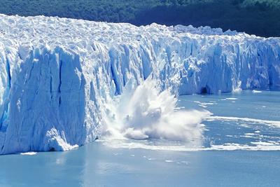Glacier Ice Melting And Icebergs Moreno Glacier