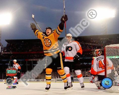 Marco Sturm Game Winning Goal Horizontal 2010 NHL Winter Classic Photo