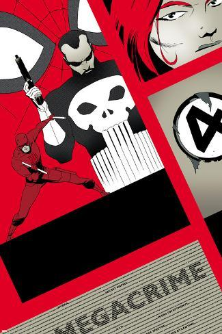Dareveil No.11 Cover: Punisher and Daredevil Poster