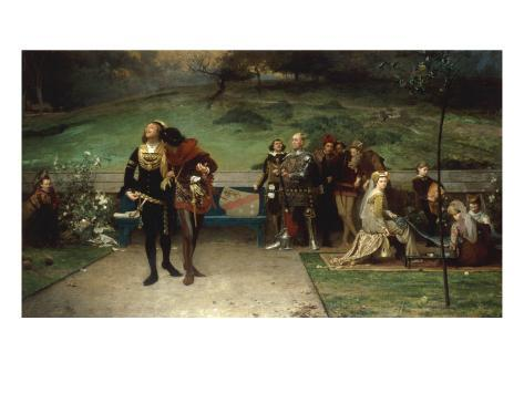 Edward II and his Favourite, Piers Gaveston, 1872 Lámina giclée
