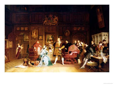Henry VIII and Anne Boleyn Observed by Queen Katherine, 1870 Giclee Print
