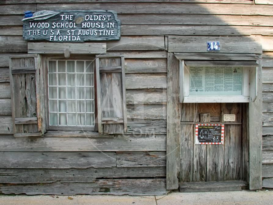 Oldest Wooden School House in America, St  Augustine, Florida, USA
