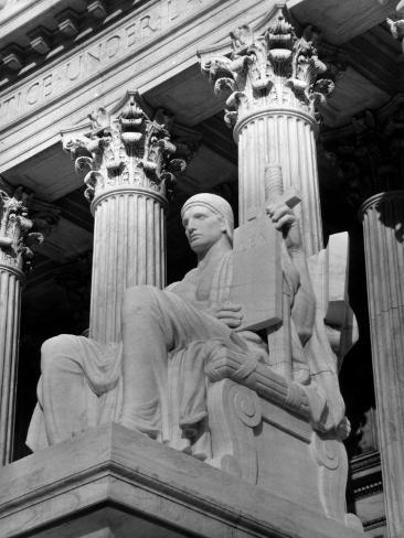 Guardian of Law, Statue Created by Sculptor James Earle Fraser Outside the Supreme Court Building Photographic Print
