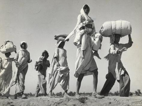 Sikh Carrying His Wife on Shoulders After the Creation of Sikh and Hindu Section of Punjab India Photographic Print