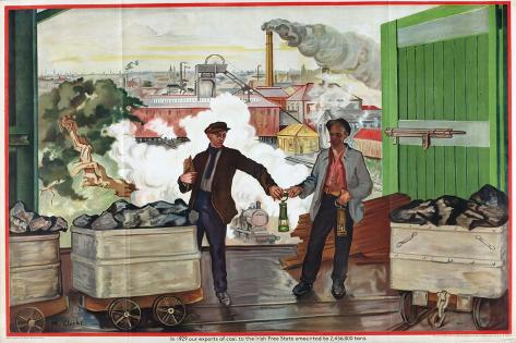 Exports of Coal to the Irish Free State, from the Series 'Irish Free State Imports' Giclee Print