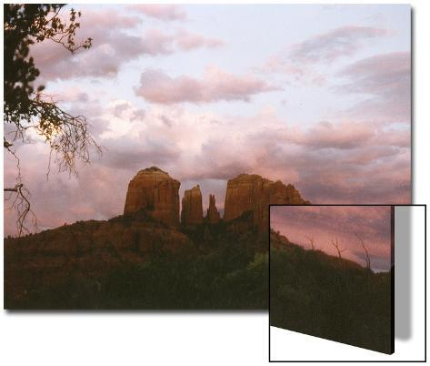 Sunset Sky over Cathedral Rock, Sedona, Arizona, USA Art on Acrylic