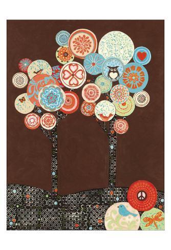 Groovy Grove II Art Print