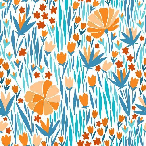 Summer Flower Pattern Stampa artistica
