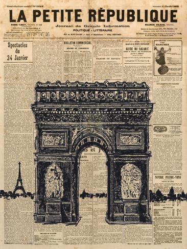 Paris Journal II Impressão artística