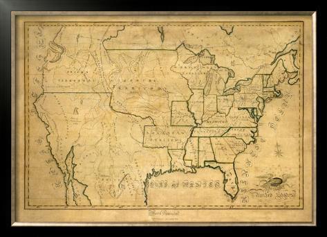 United States, c.1830 Framed Giclee Print