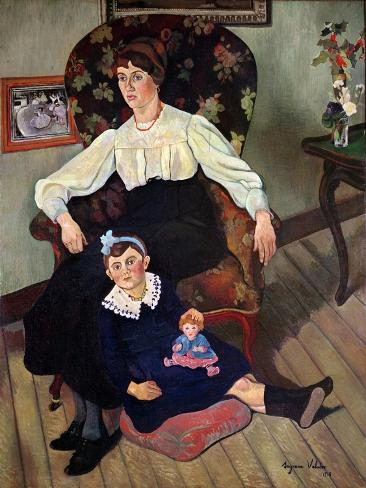 Portrait of Marie Coca and her Daughter, 1913 Giclee Print