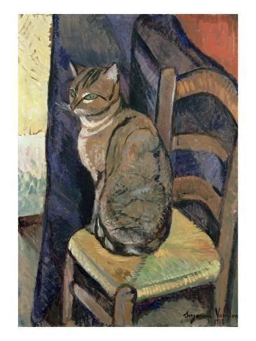 Study of a Cat, 1918 Giclee Print