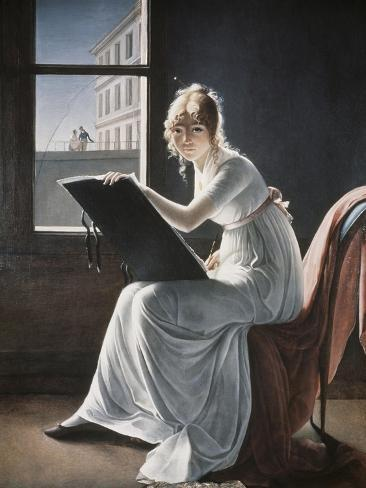 Young Woman Drawing, c.1801 Giclee Print