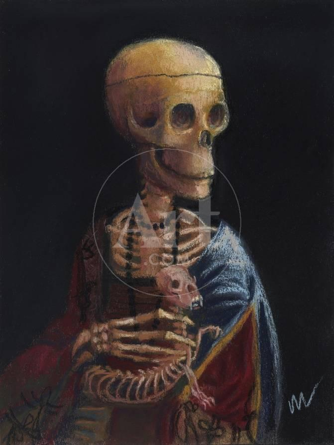 Skelly With A Ferret Giclee Print By Marie Marfia Fine Art At