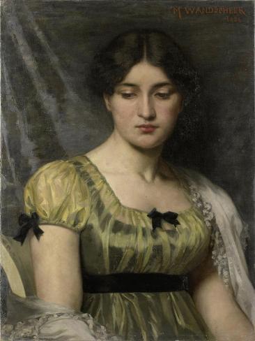 Portret Van Een Vrouw Art Print